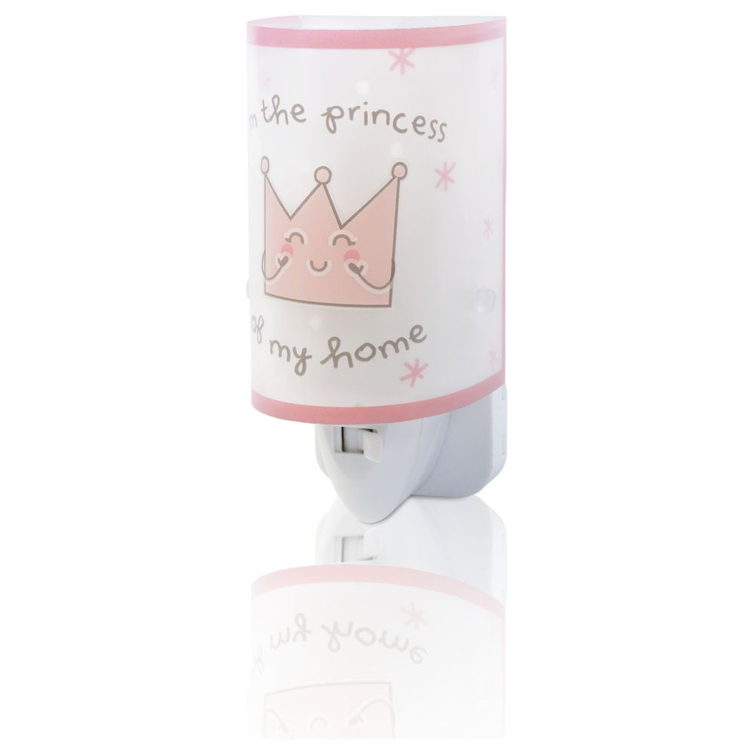 LED Kinderzimmer Nachtlicht Princess in Rosa fluoreszierend E14 - CL119776