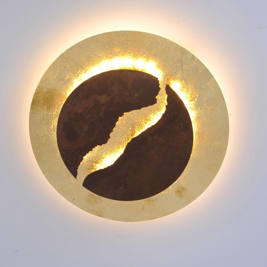 LED Wand- und Deckenleuchte Nevis in Rostfarben 300 mm - CL119543