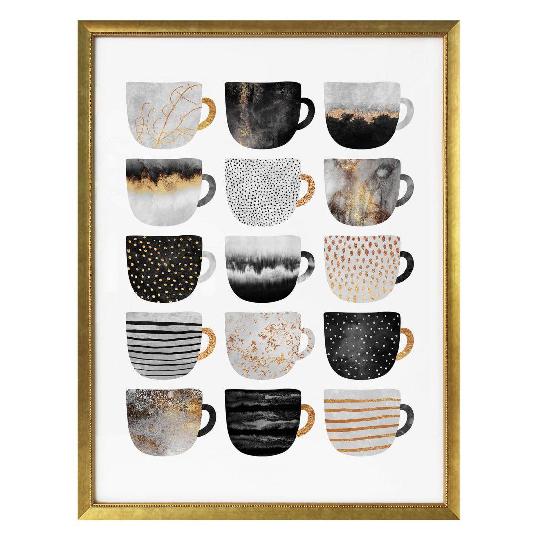 Poster Fredriksson - Kaffeetassen: Pretty Black & Gold - WA257612