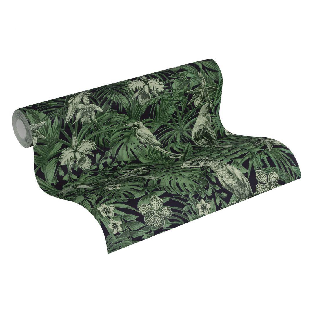 A.S. Création Vliestapete Greenery Tapete mit Palmenprint in Dschungel Optik grün, schwarz - WA268106