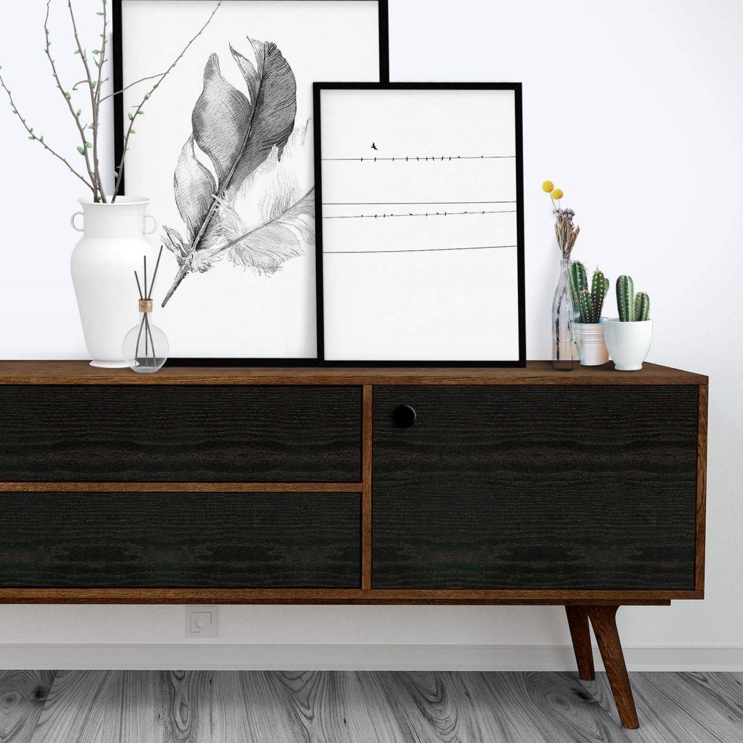 Dekofolie schwarzes Holz - WA252256