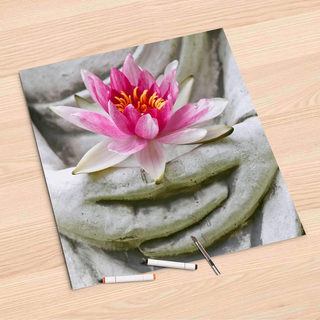 Folienbogen (60x60cm) - Flower Buddha - CR107071