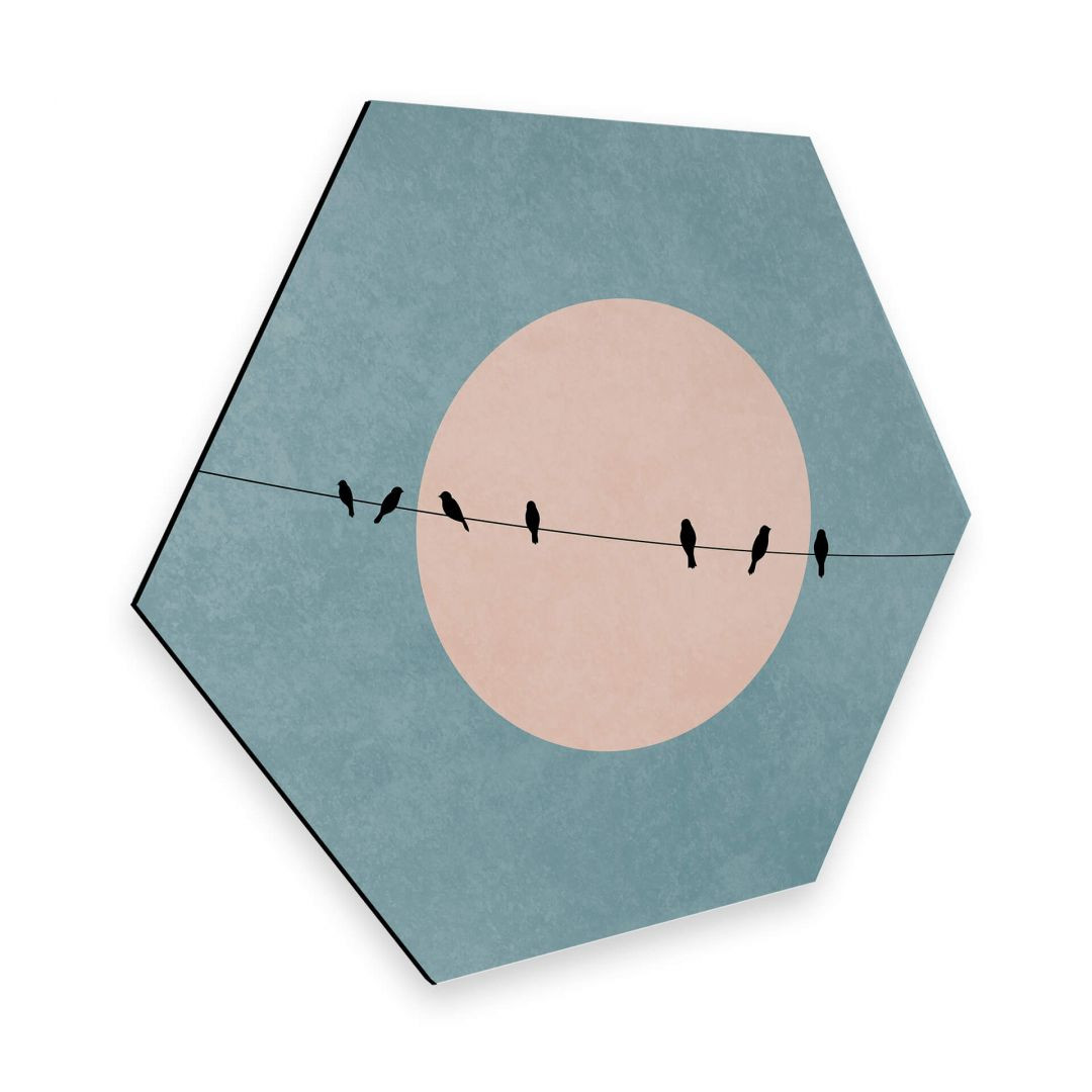 Hexagon - Alu-Dibond - Kubistika - Die Schönheit der Stille - WA253055
