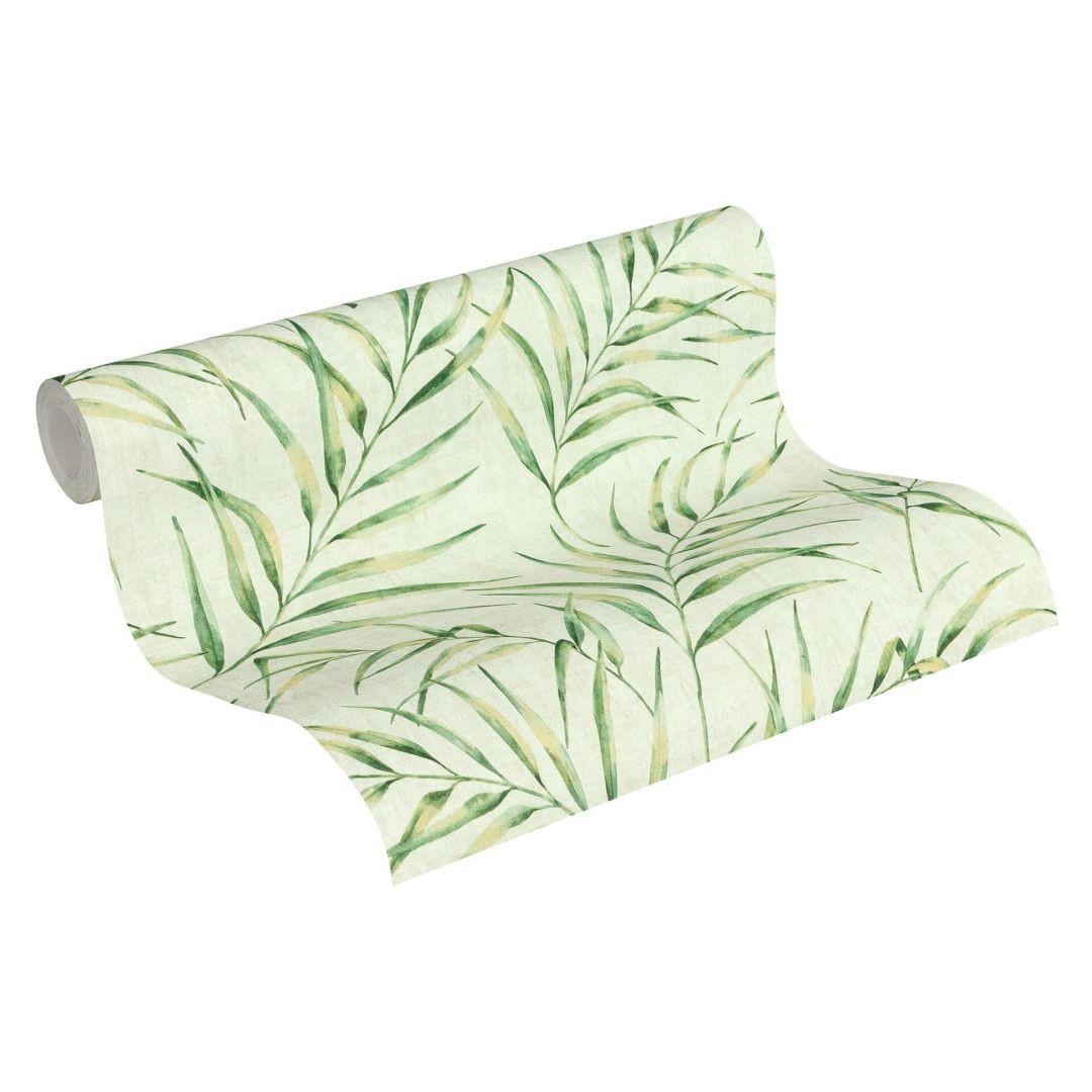 A.S. Création Vliestapete Greenery Tapete mit Palmenprint in Dschungel Optik grün - WA268086