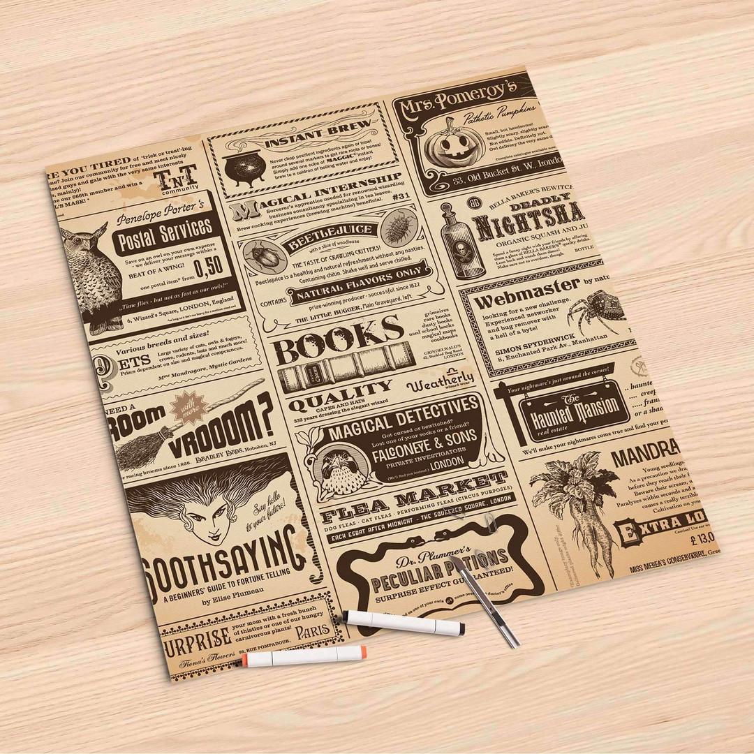 Folienbogen (60x60cm) - Vintage Newspaper - CR107231