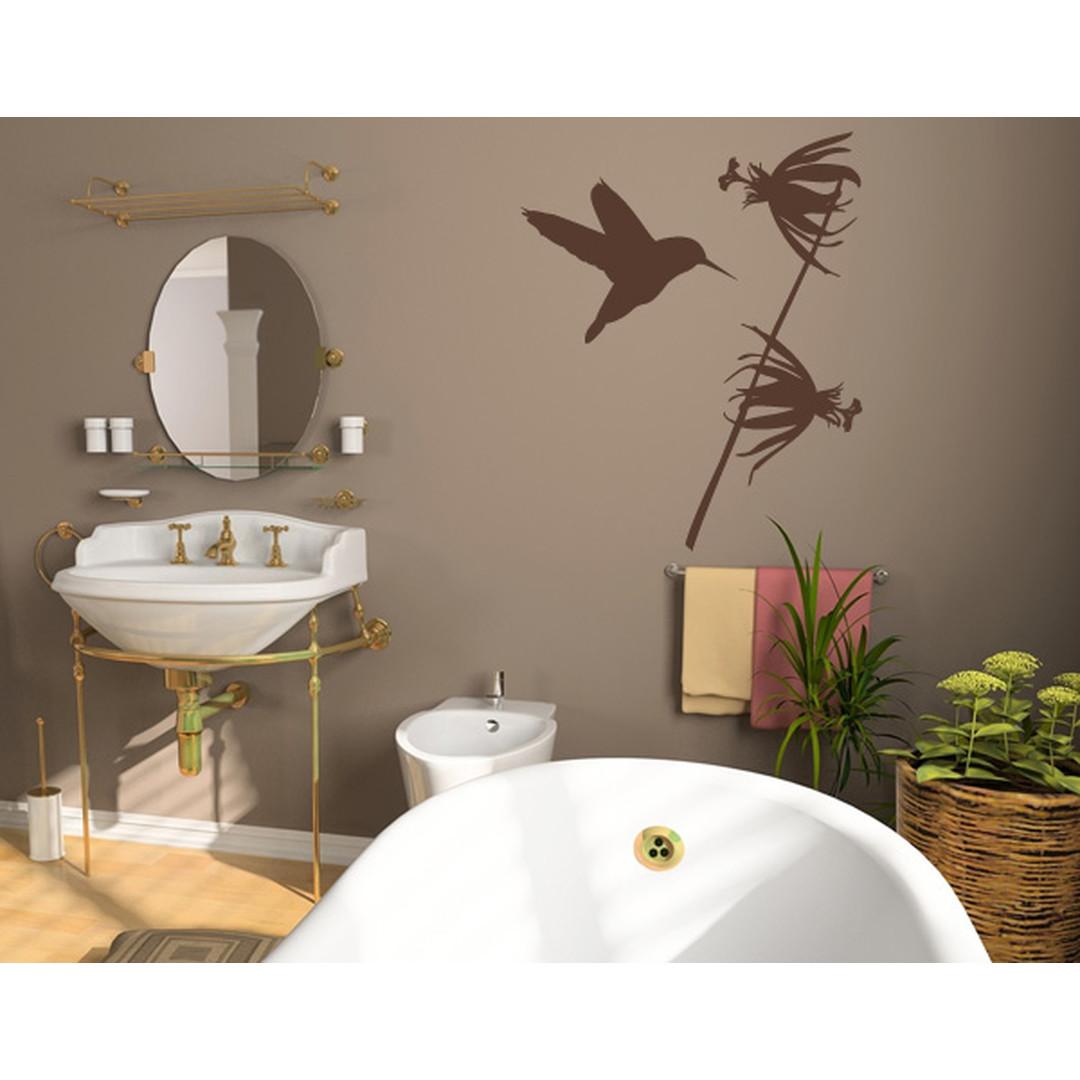Wandtattoo Kolibri mit Blume - TD16193