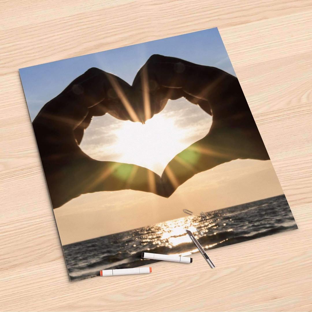 Folienbogen (60x60cm) - Sunny Heart - CR107202