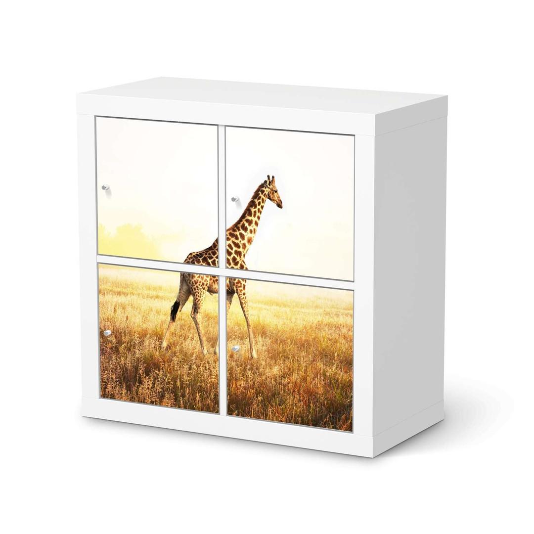 Möbelfolie IKEA Expedit Regal 4 Türen - Savanna Giraffe - CR114580