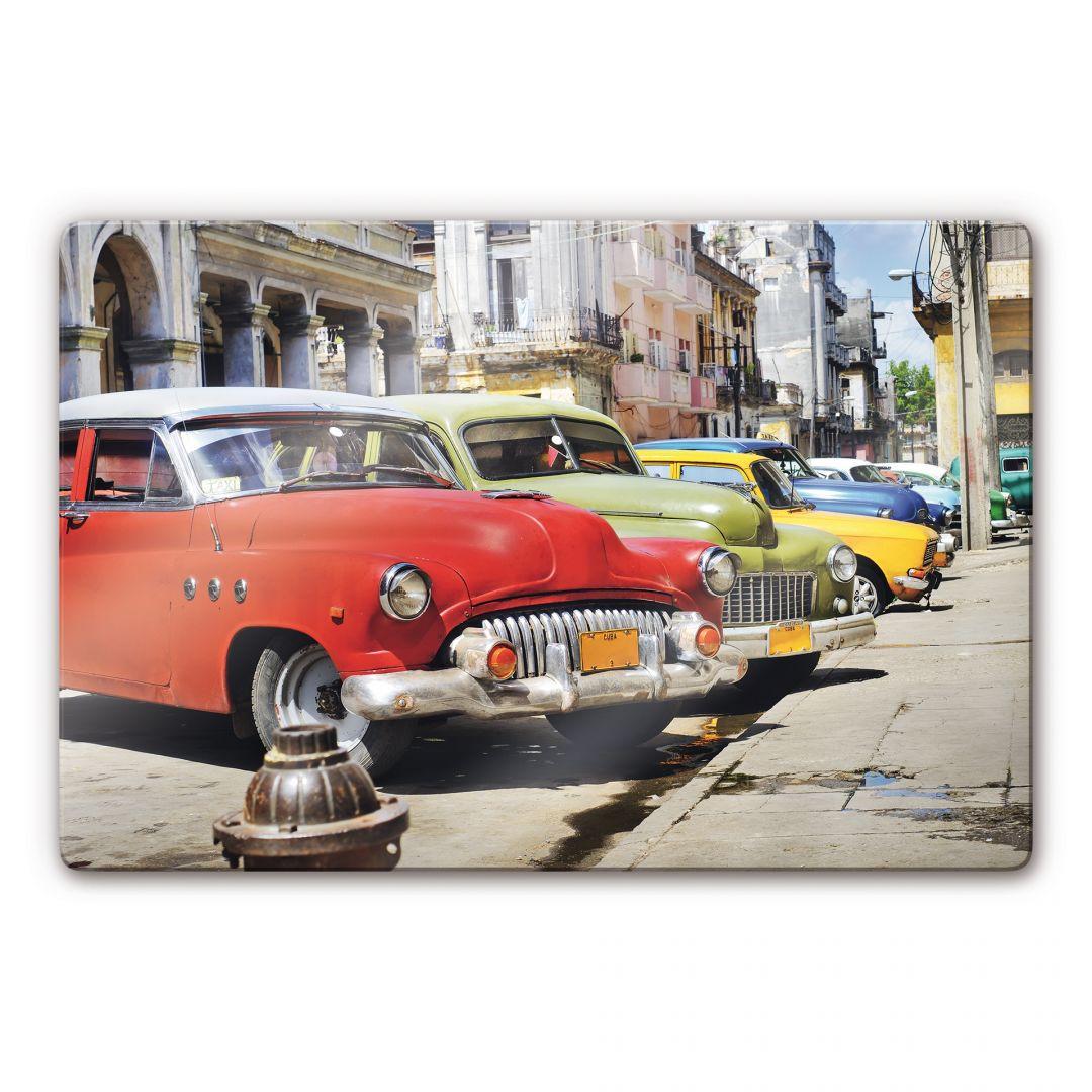 Glasbild Cuba Cars - WA122034