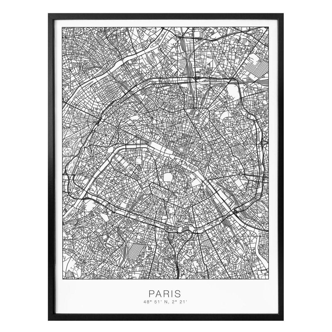 Poster Stadtplan Paris - WA259099