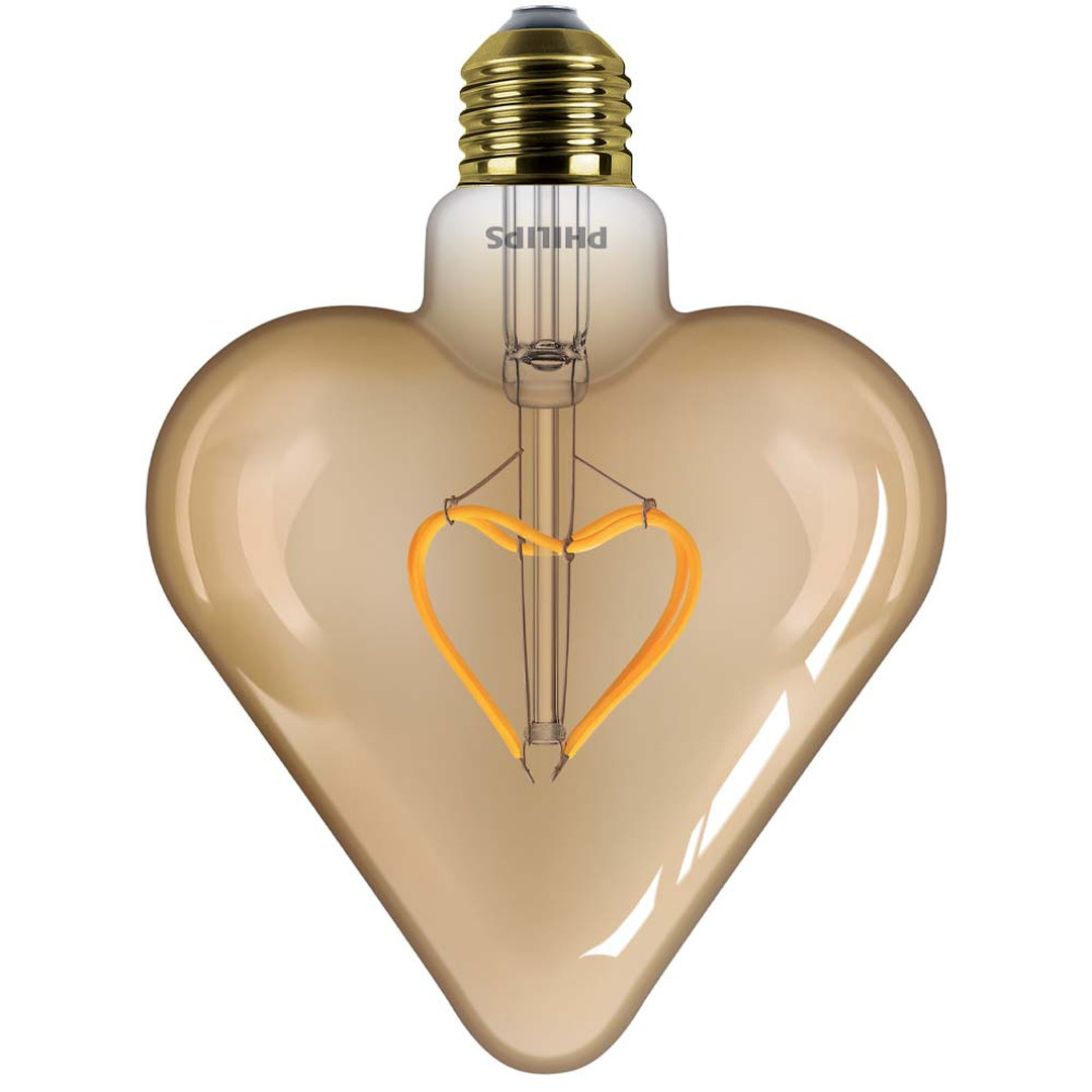 Philips LED Leuchtmittel Herz in Gold, E27. warmweiss, 125lm - CL120283