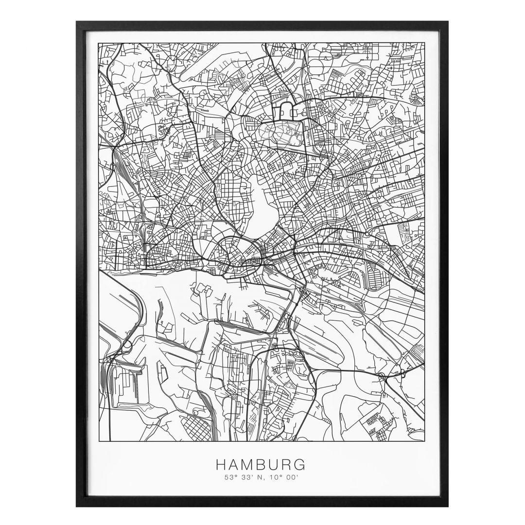 Poster Stadtplan Hamburg - WA259070