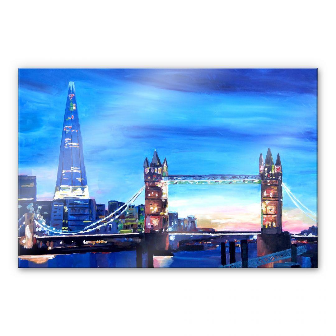 Acrylglasbild Bleichner - London Tower Bridge und The Shard - WA107355