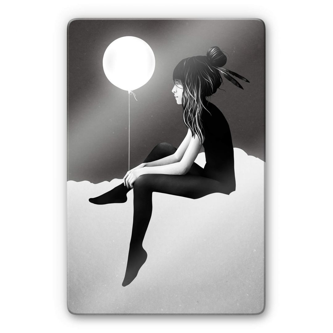 Glasbild Ireland - No such thing as nothing by night - leuchtender Ballon - WA252884