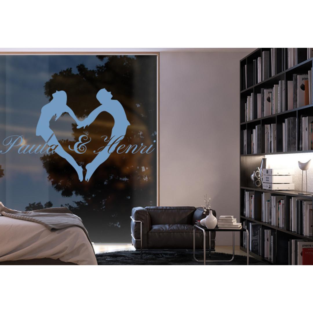 Glasdekor Wunschtext Liebespaar - CG10511