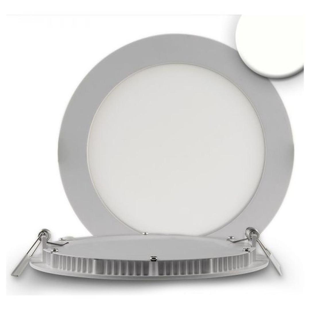 LED Downlight, 12W, rund, ultra flach, silber, neutralweiss, dimmbar - CL120421