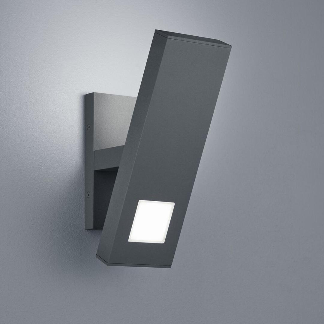 LED Wandleuchte Mio in Graphit und Transparent-satiniert 15W 1800lm IP54 - CL120111