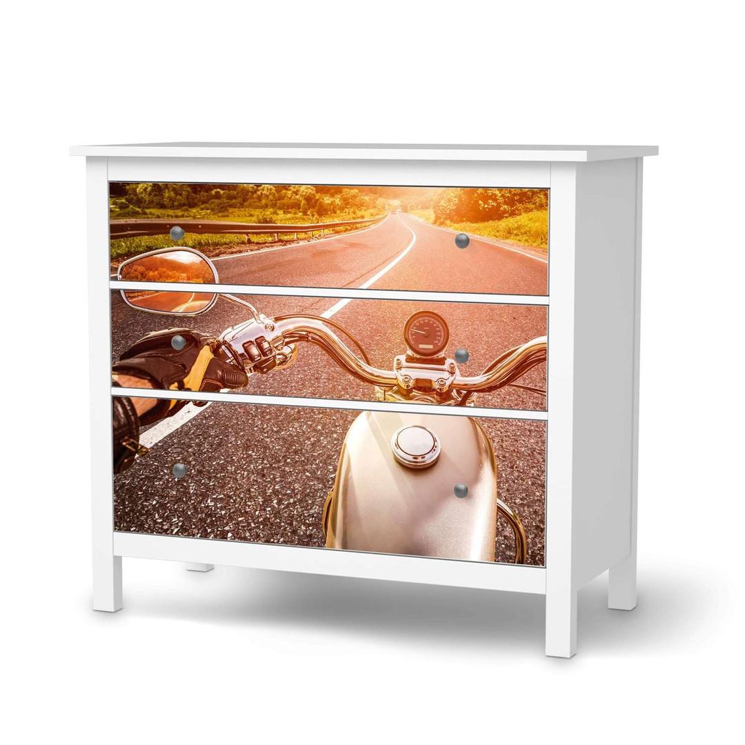 Möbelfolie IKEA Hemnes Kommode 3 Schubladen - Easy Rider - CR114711