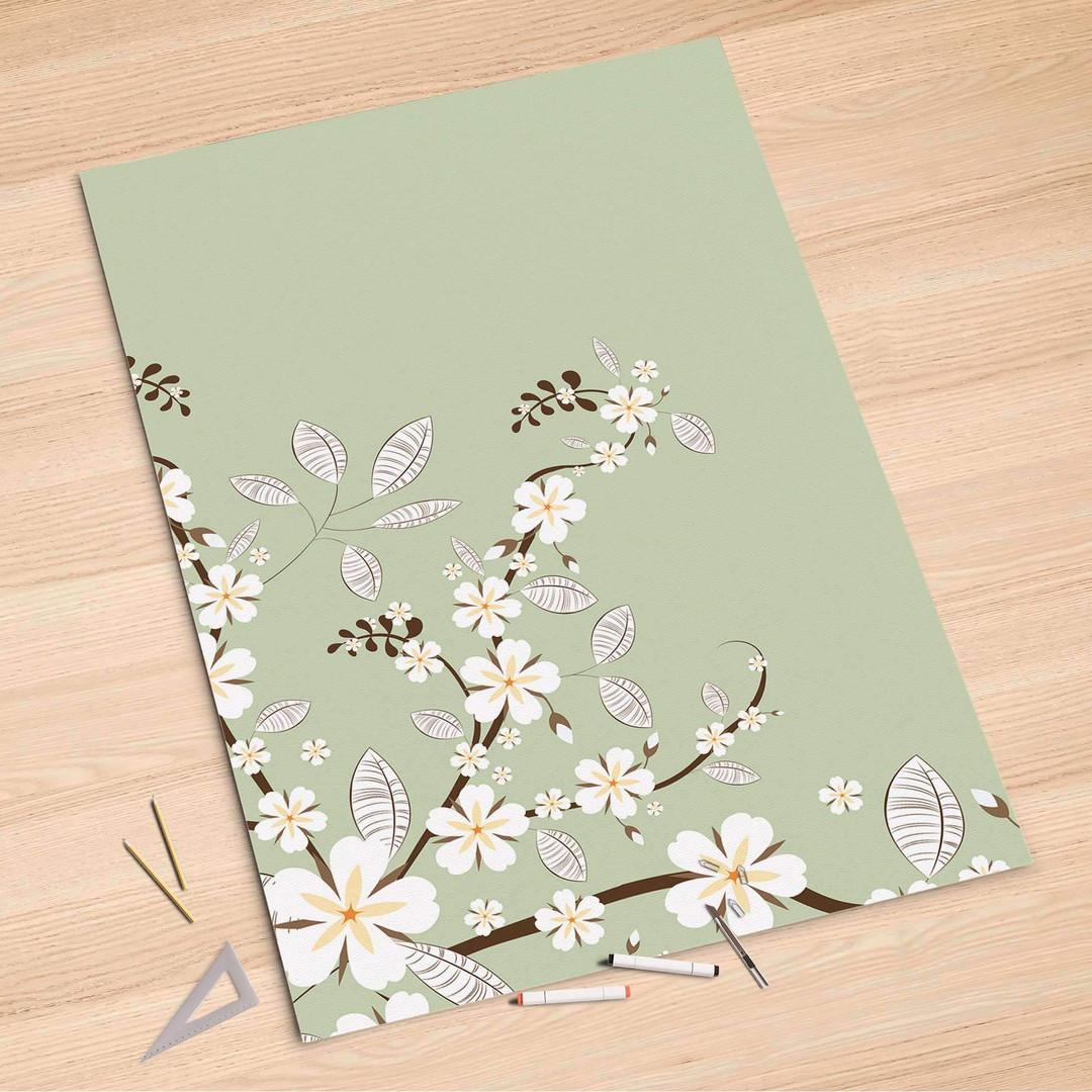 Folienbogen (100x150cm) - White Blossoms - CR106308