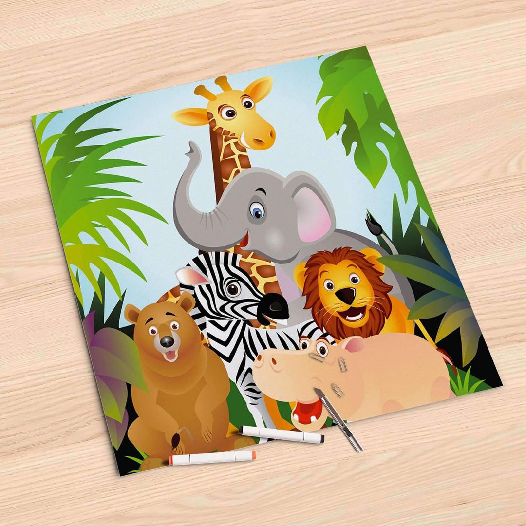Folienbogen (60x60cm) - Wild Animals - CR107238