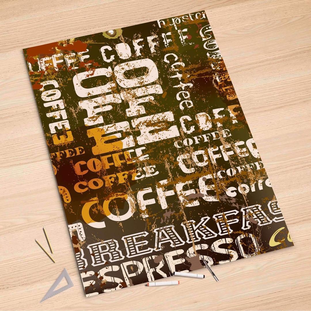 Folienbogen (100x150cm) - Coffee Typo - CR106141