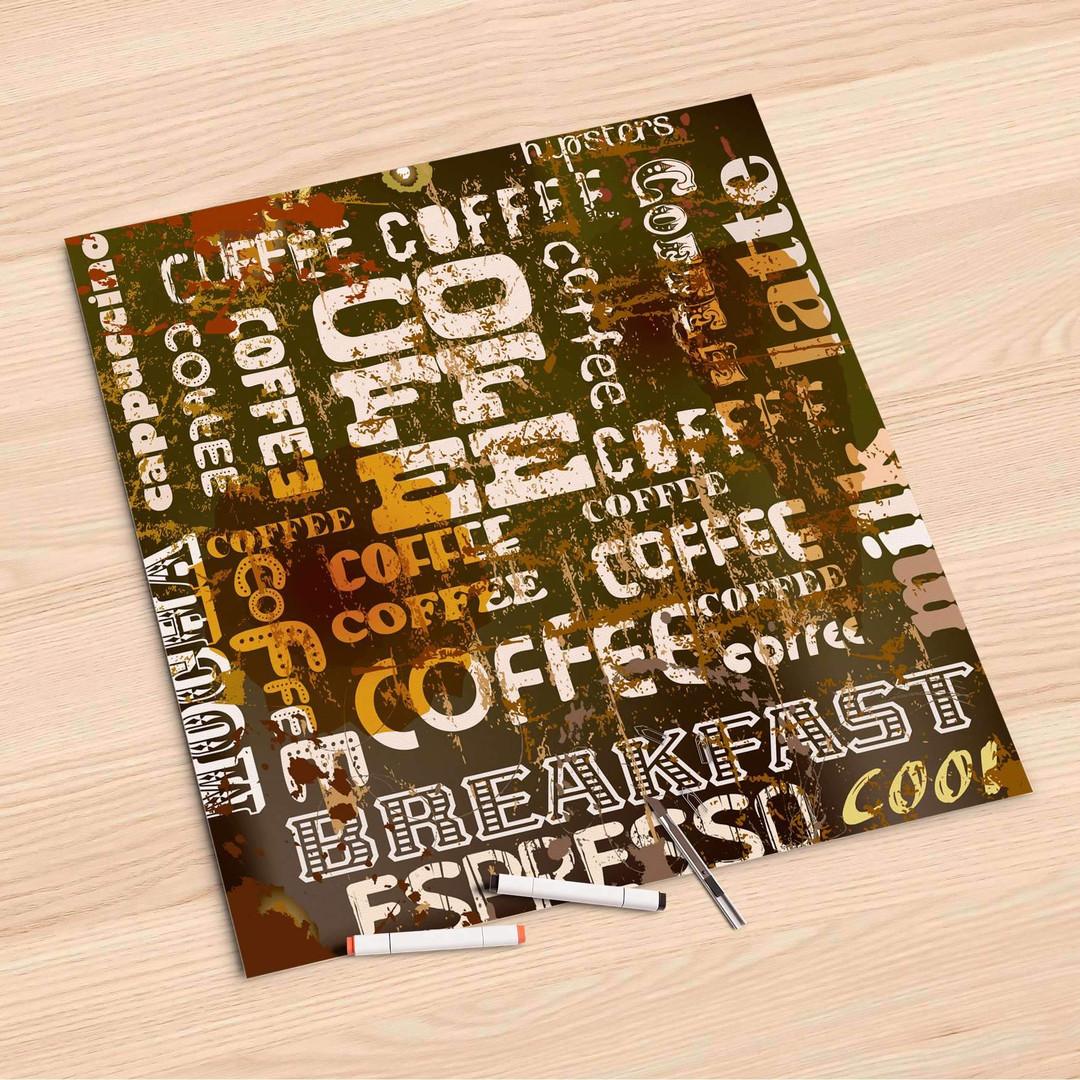 Folienbogen (60x60cm) - Coffee Typo - CR107045