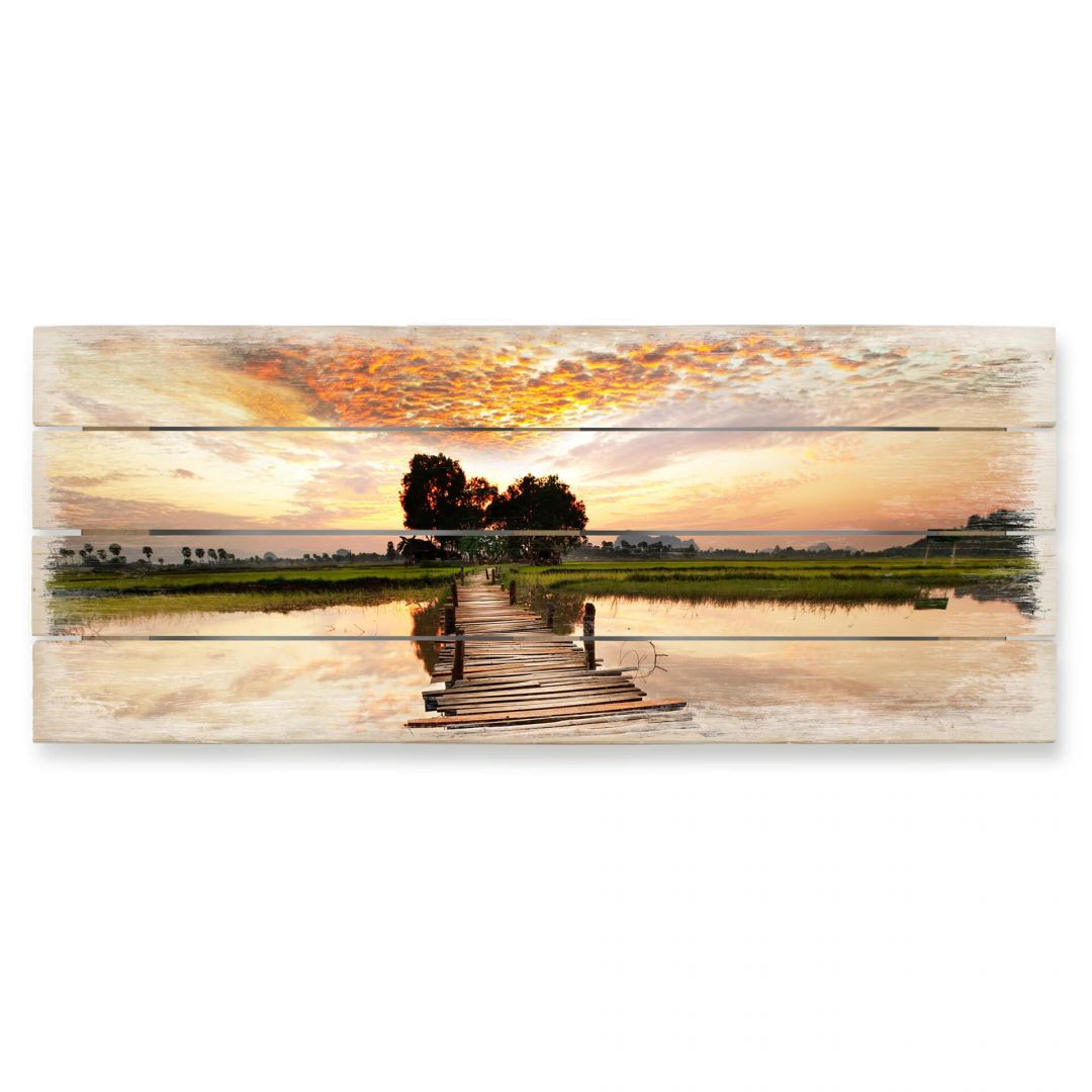 Holzbild To the other Side - Panorama - WA132616