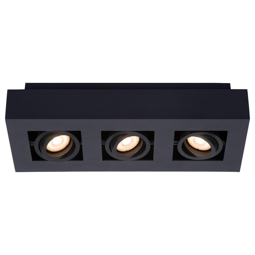 LED Deckenleuchte Xirax GU10 3x5W in Schwarz 3-flammig - CL120253