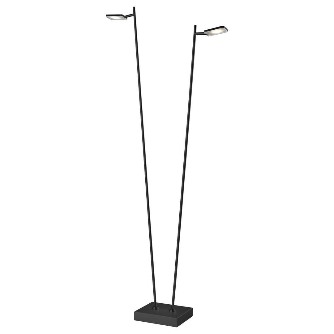 LED Stehleuchte Quad in Schwarz 2x 5W 800lm - CL120173