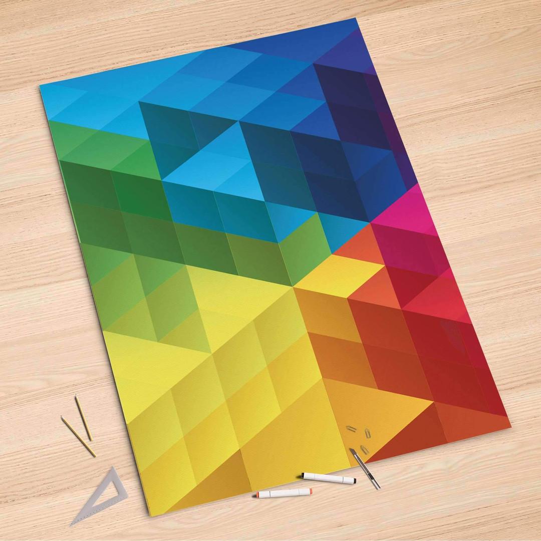 Folienbogen (100x150cm) - Colored Cubes - CR106142