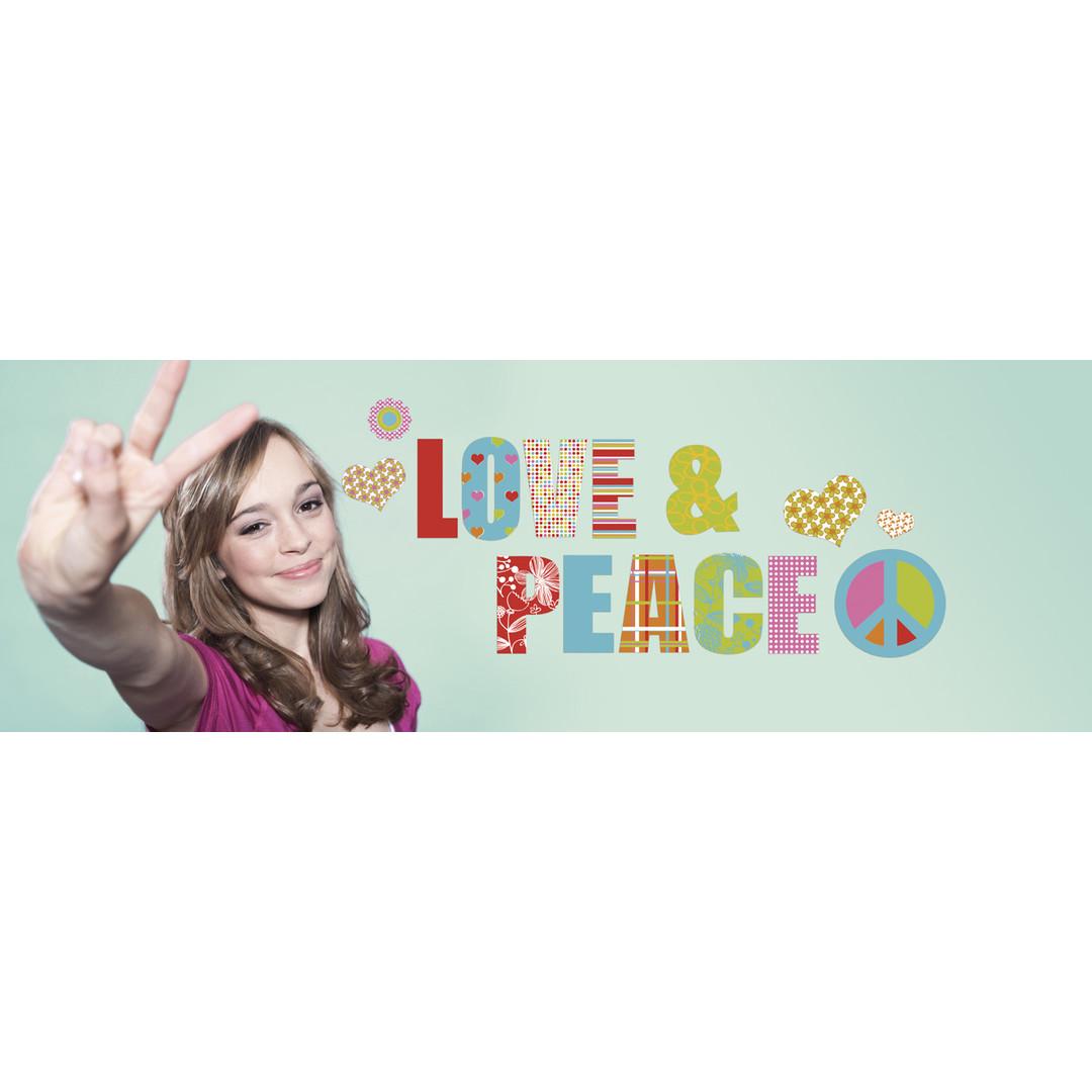 Wandsticker Love and Peace - KO17718h