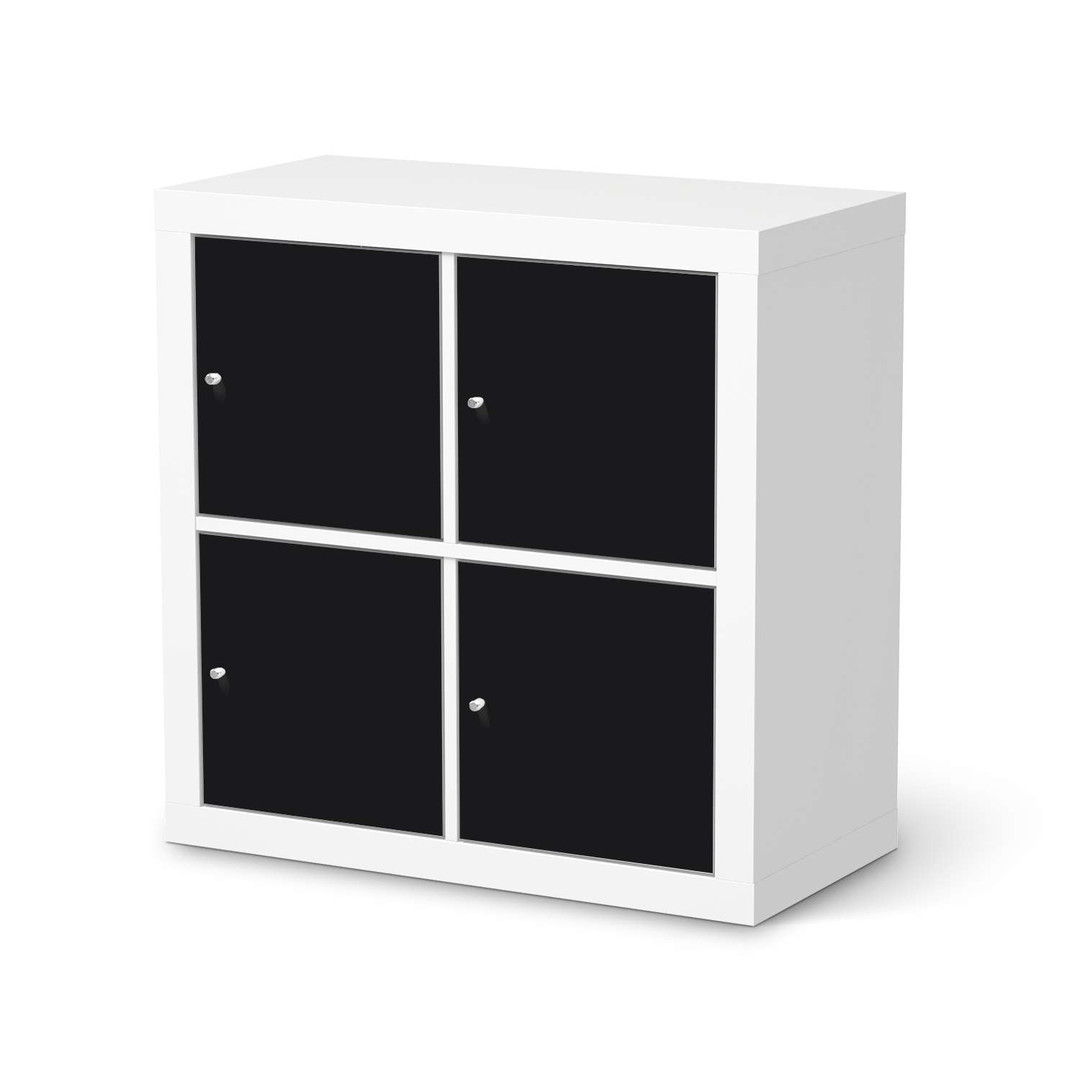 Möbelfolie IKEA Expedit Regal 4 Türen - Schwarz - CR114582