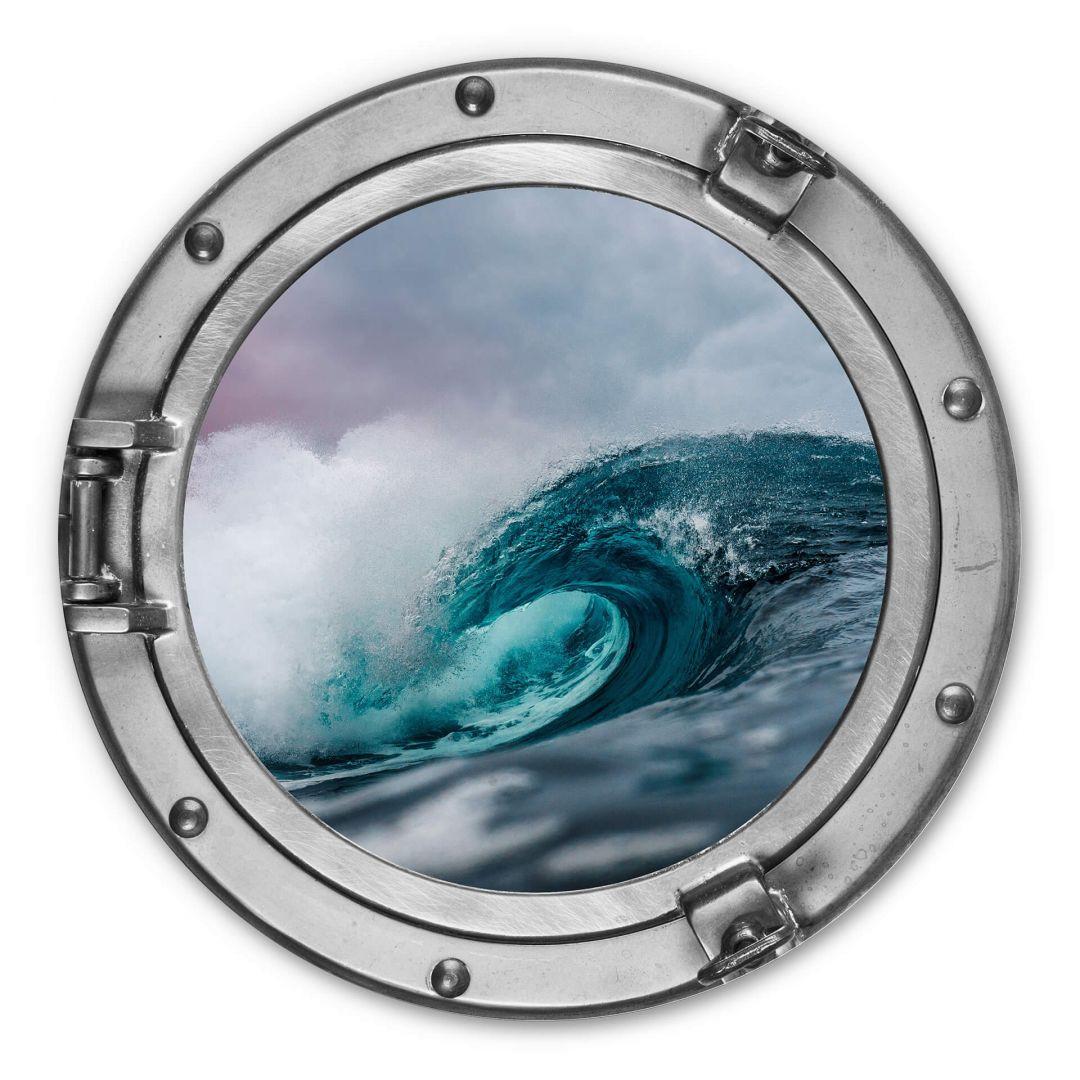 Alu-Dibond 3D Optik - Das tosende Meer - Rund - WA288513