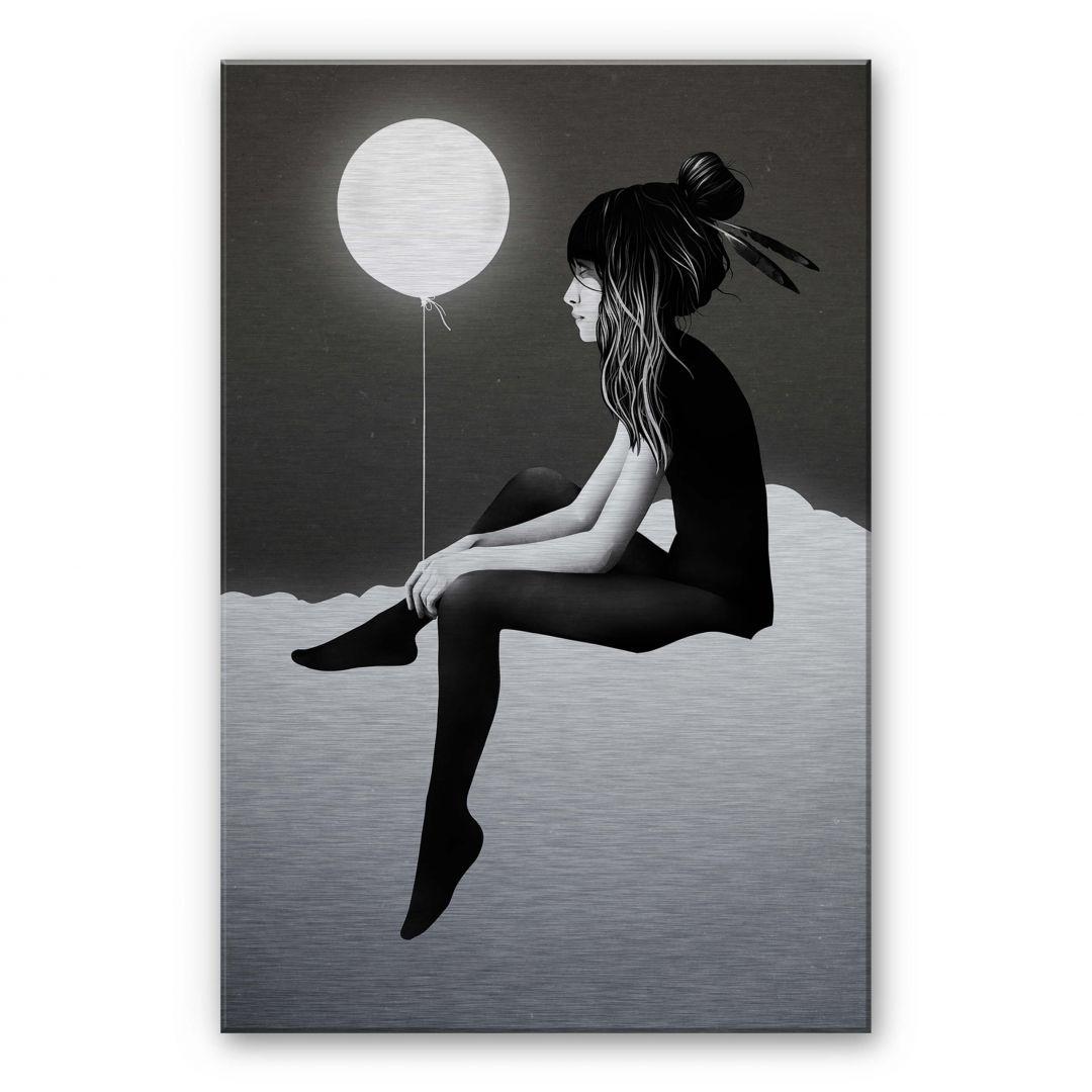 Alu-Dibond-Silbereffekt Ireland - No such thing as nothing by night - leuchtender Ballon - WA252180