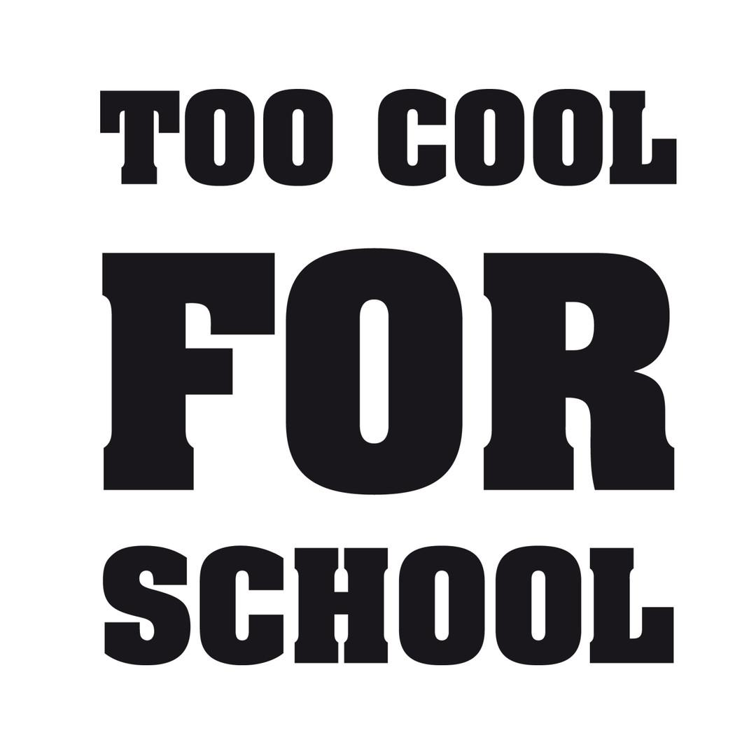 Glasdekor Too cool for school - CG10128