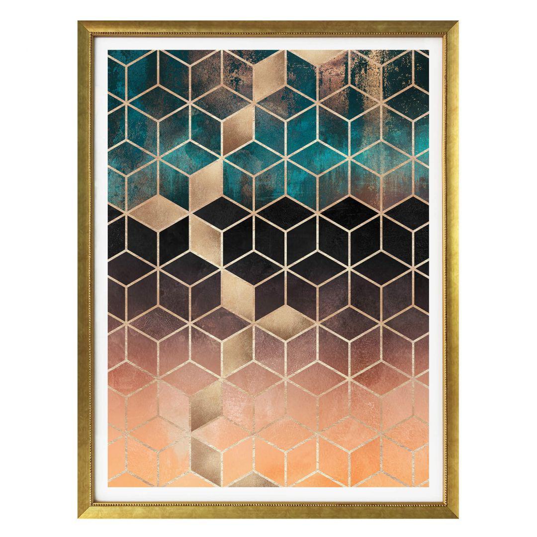 Poster Fredriksson - Goldgrüne Geometrie - WA257549