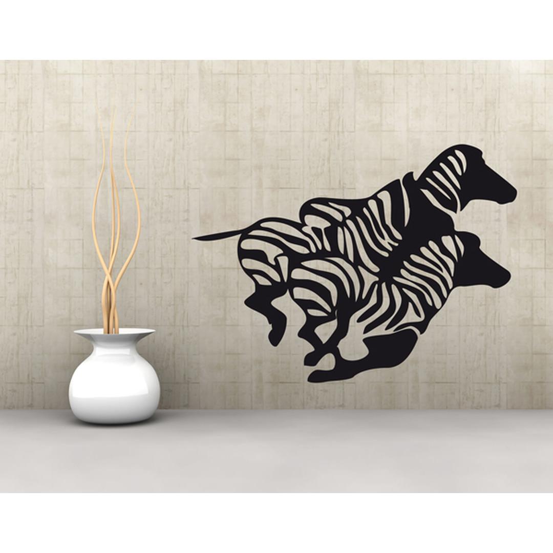 Wandtattoo Rennende Zebras - TD16916