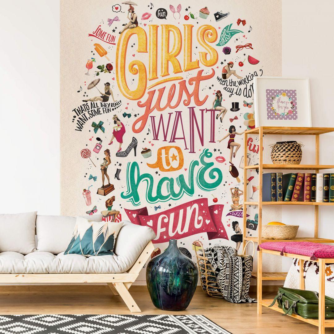 Fototapete Tohmé - Girls just wanna have fun - 192x260cm - WA271355