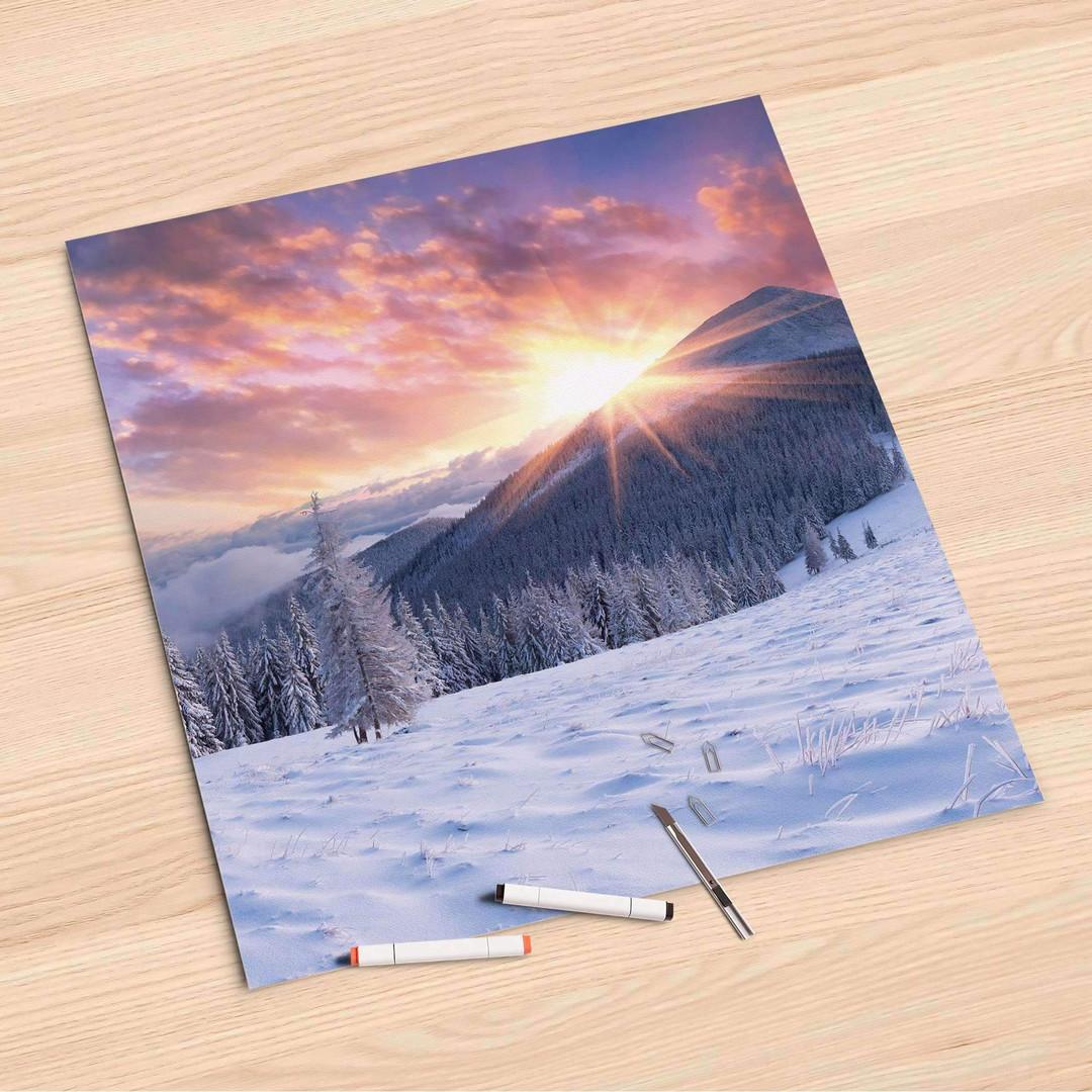 Folienbogen (60x60cm) - Zauberhafte Winterlandschaft - CR107249