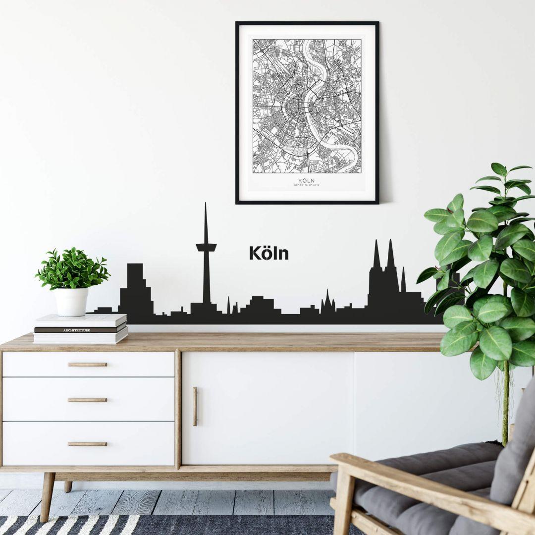 Wandtattoo Köln Skyline 1 - WA213555