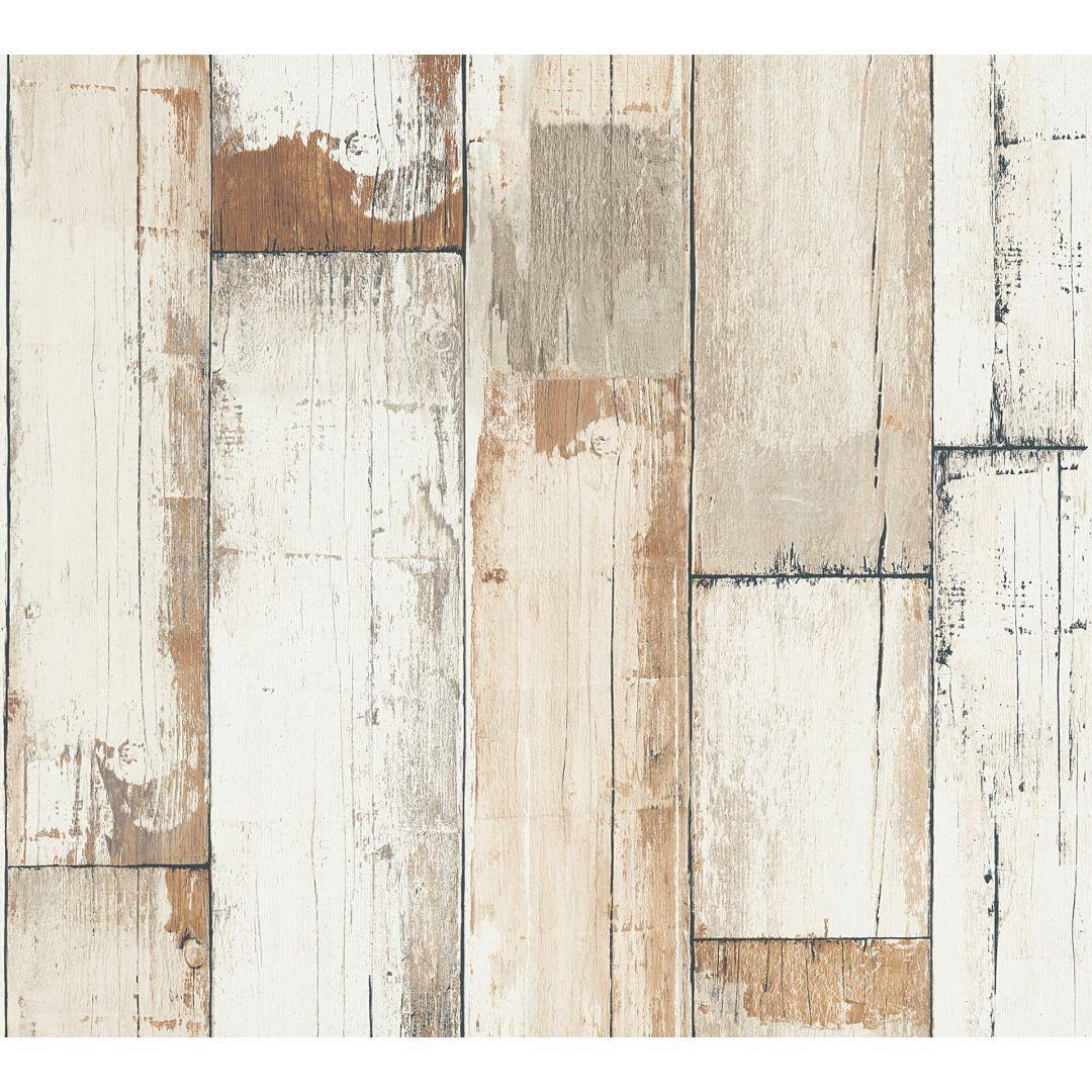 A.S. Création Vliestapete il Decoro Tapete in Vintage Holz Optik braun, creme, weiss - WA268380