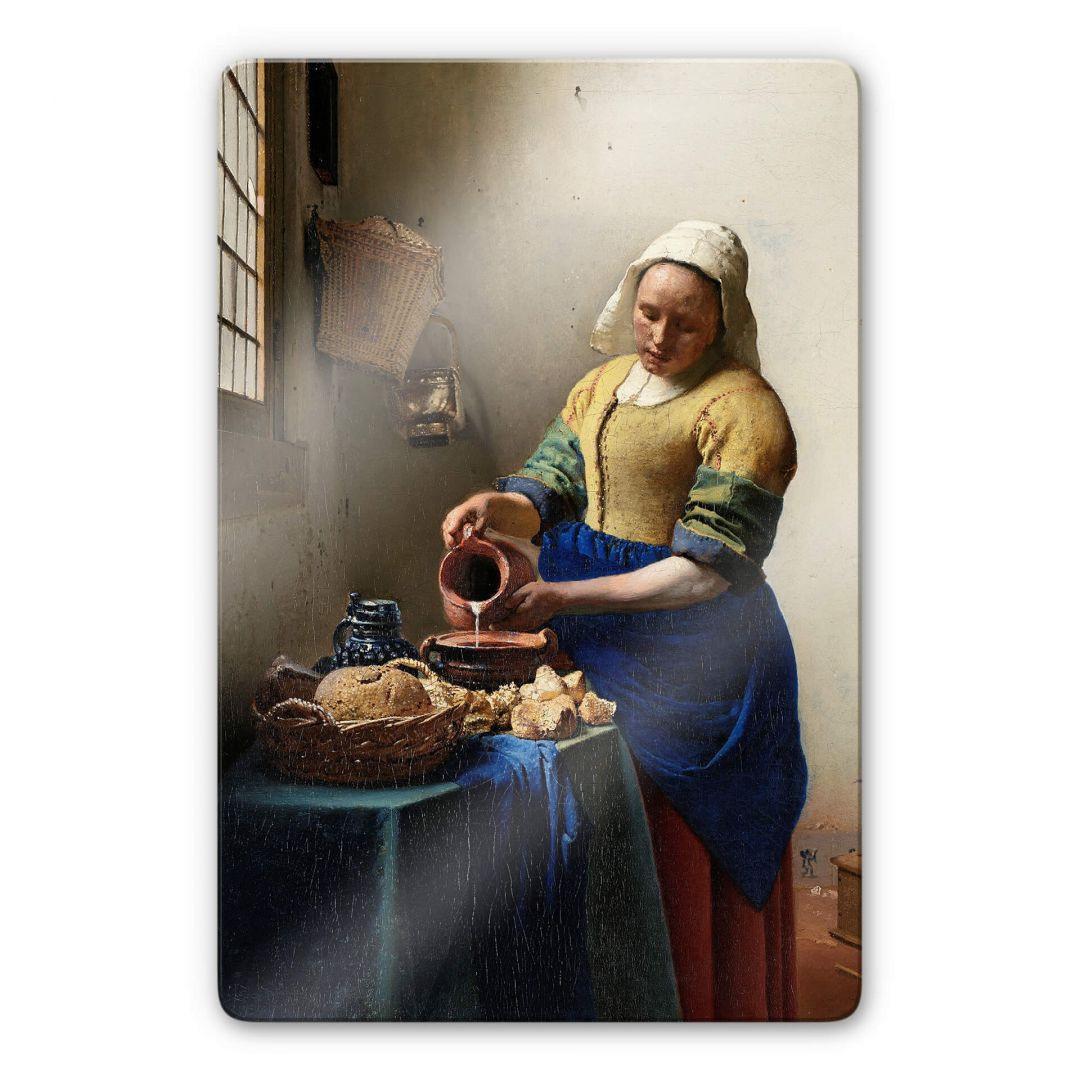 Glasbild Vermeer - Das Mädchen mit dem Milchkrug - WA253028