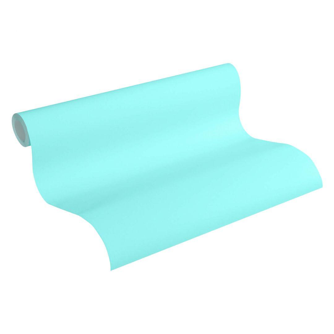 Esprit Vliestapete Tapete Uni blau, grün - WA252349