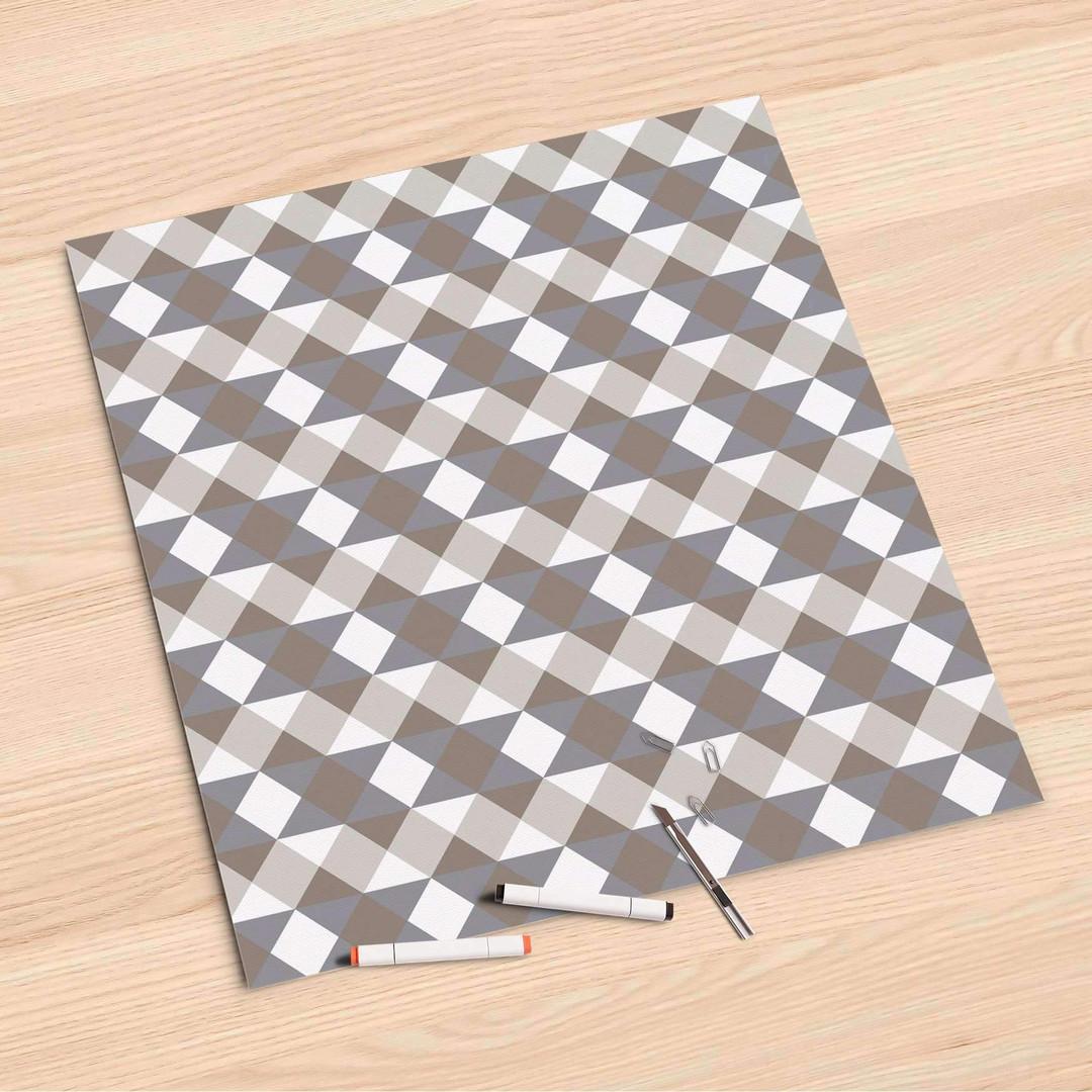 Folienbogen (60x60cm) - Triangle Pattern - Grau - CR107222