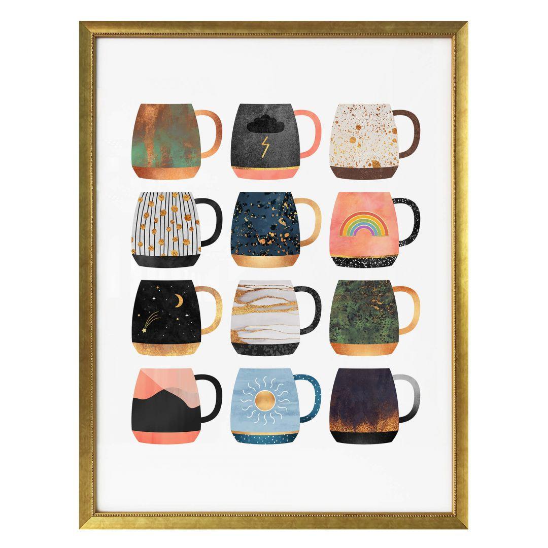 Poster Fredriksson - Kaffeetassen: Sonne, Mond und Sterne - WA257639