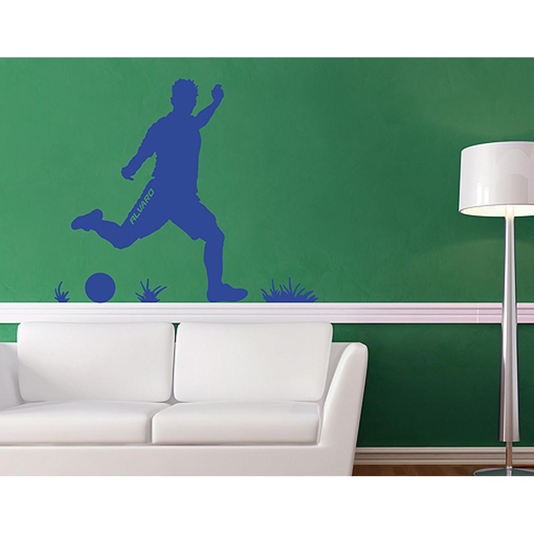 Wandtattoo Wunschtext Fussball Spieler - CG10519
