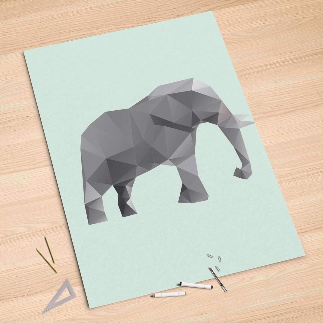 Folienbogen (100x150cm) - Origami Elephant - CR106229