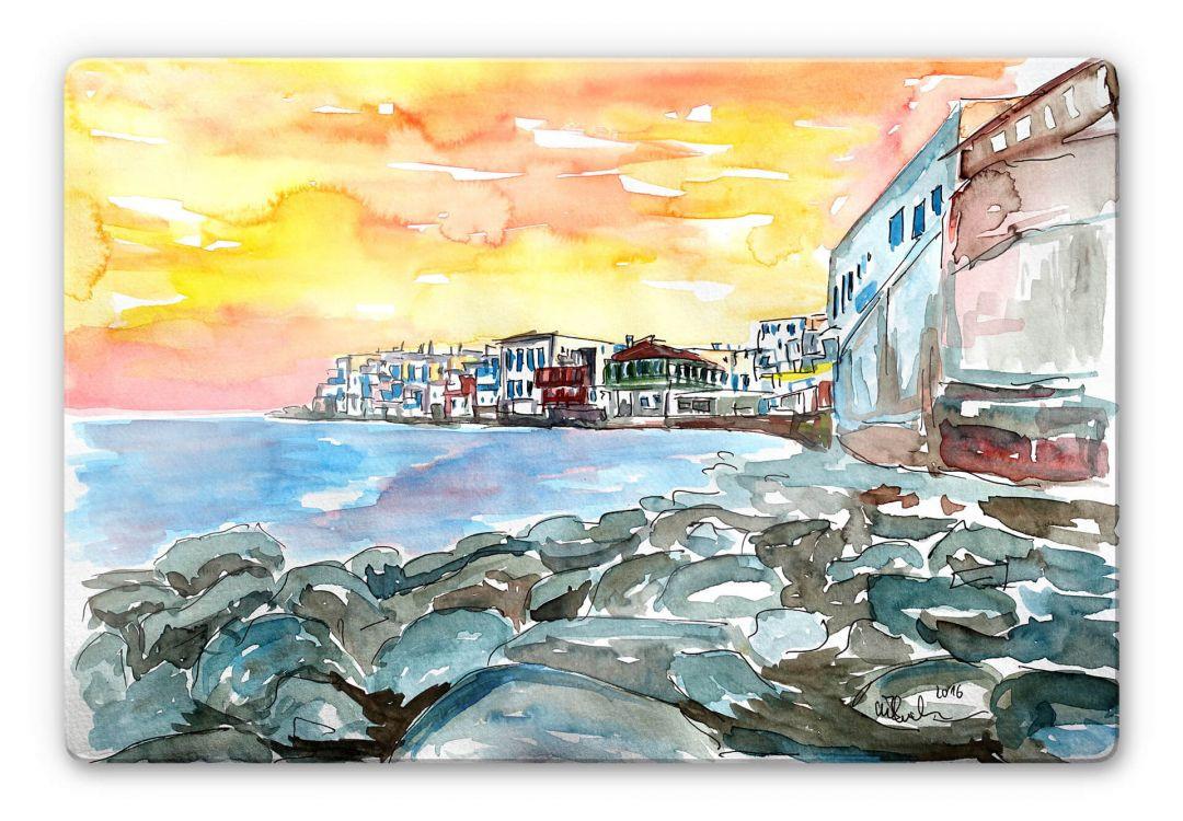 Glasbild Bleichner - Magnificent Mykonos - WA252661