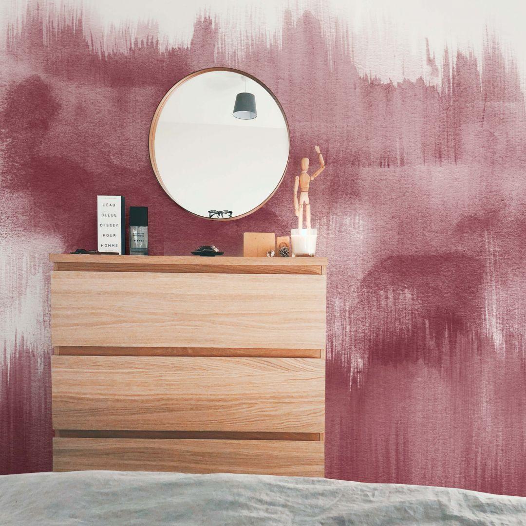 Fototapete Nouveauprints - Watercolour Brush Strokes (rosé) - WA288833
