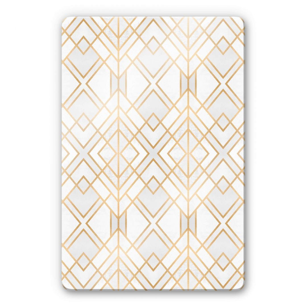 Glasbild Fredriksson - Goldene Geometrie - WA252804